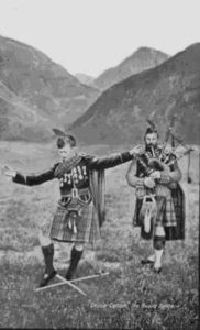 bagpiper and sworddancer